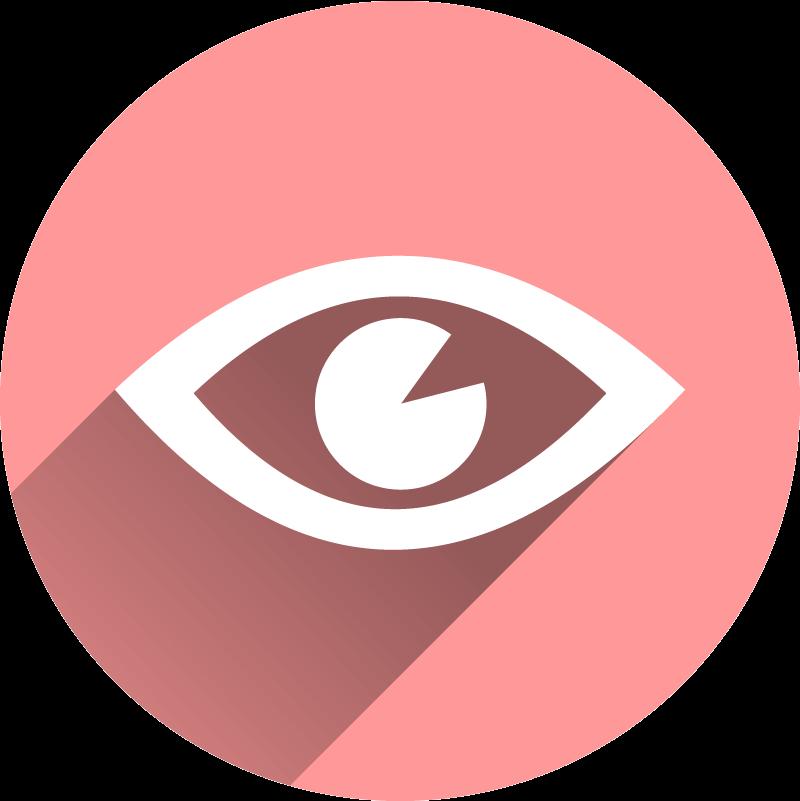 Augen-Symbol in hellrot